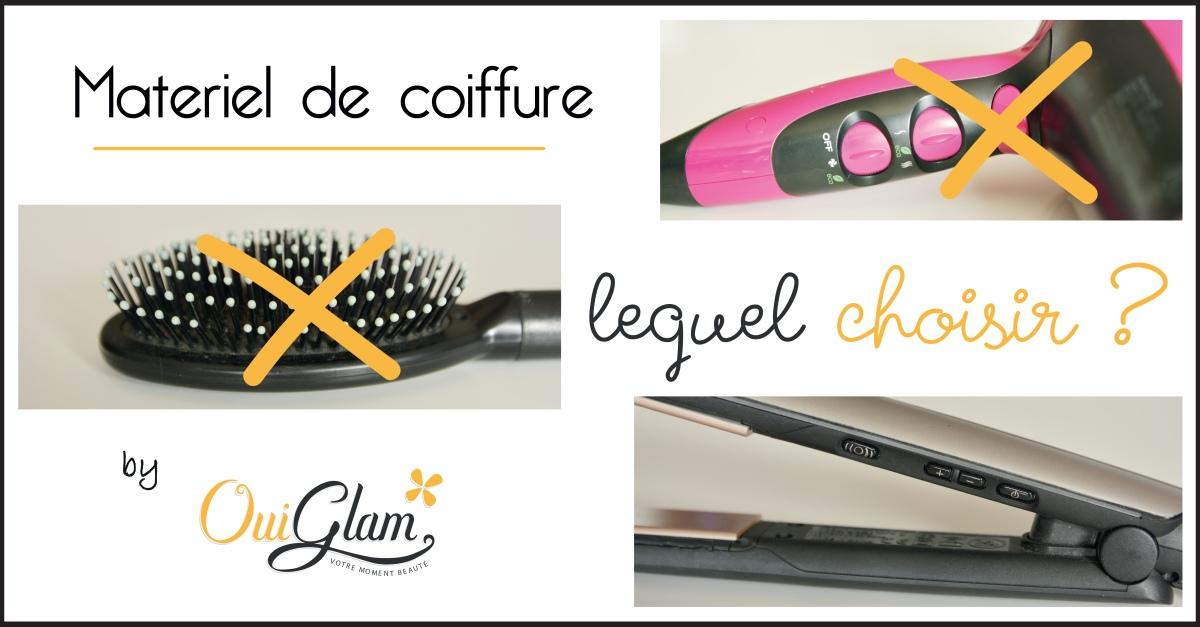 Brosses, sèches cheveux, plaques à lisser...Quel matériel de coiffure choisir pour chez soi!