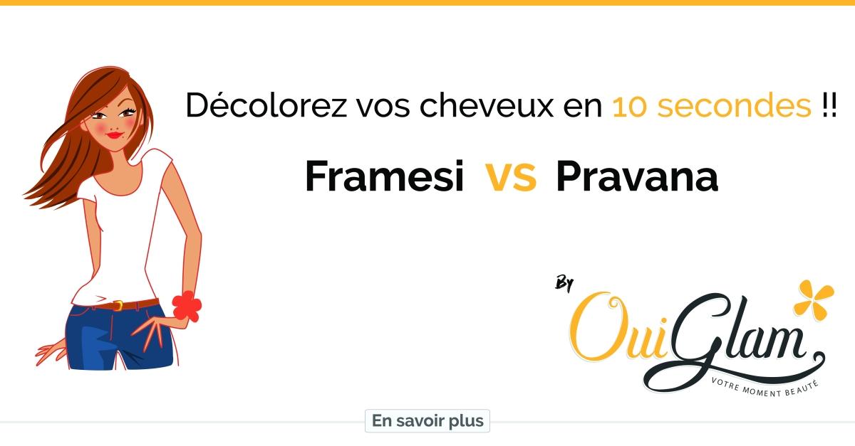 Décoloration des cheveux en 10 secondes , Framesi vs Pravana