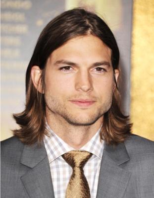 Männer mit langem Haar Ashton Kutcher