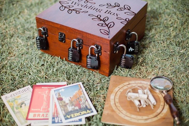 une boite d'escape game de mariage